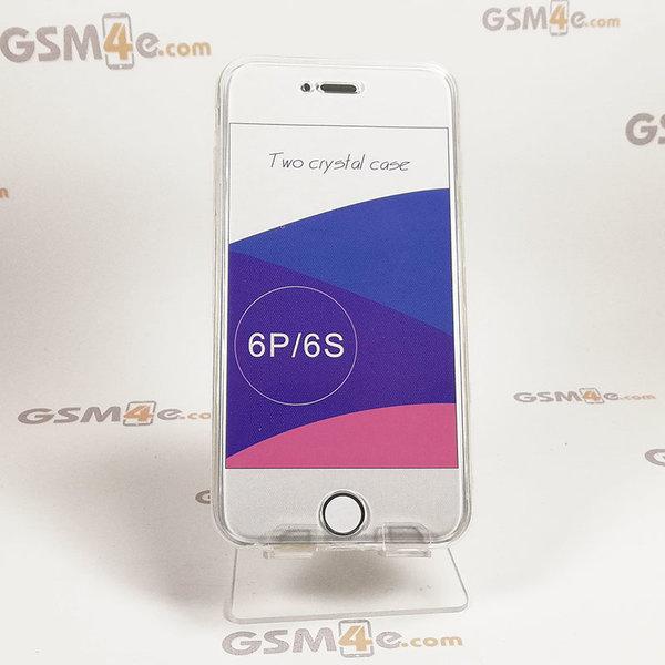 Прозрачен силиконов 360 градусов калъф / кейс за iPhone 6 Plus / 6S Plus