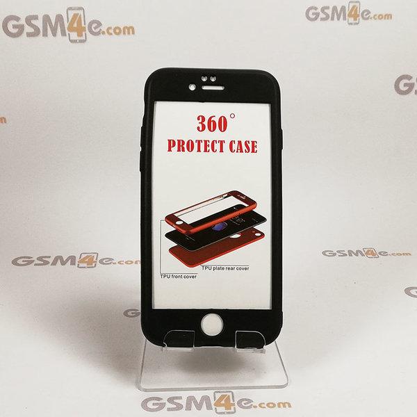 Iphone 6/6S - Луксозен силиконов 360 градусов калъф / кейс с нано протектор