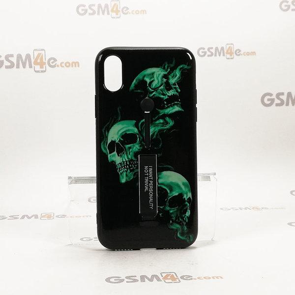 Луксозен гръб MOSS с холдър за iPhone X / Xs