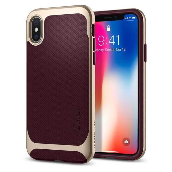Оригинален кейс / гръб / калъф за iPhone X / XS Spigen Neo Hybrid® Burgundy