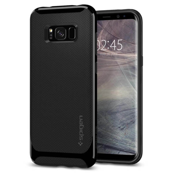 Оригинален кейс / гръб / калъф за Samsung Galaxy S8 Spigen Neo Hybrid® Shiny Black