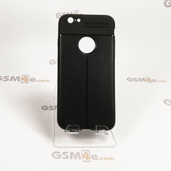 Iphone 6/6S - Удароустойчив силиконов гръб / кейс с изглед на кожа и борд на отвора на камерата