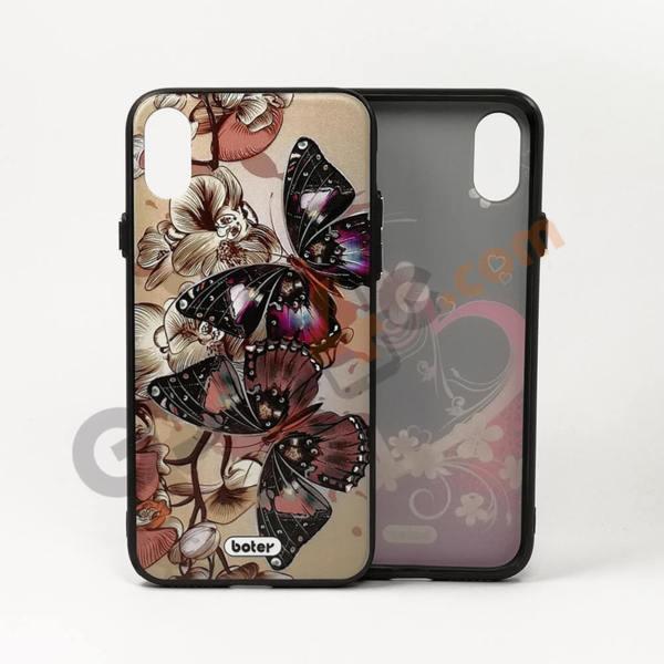 Луксозен калъф / кейс с 3D печат за iPhone X / XS (дизайн 1)