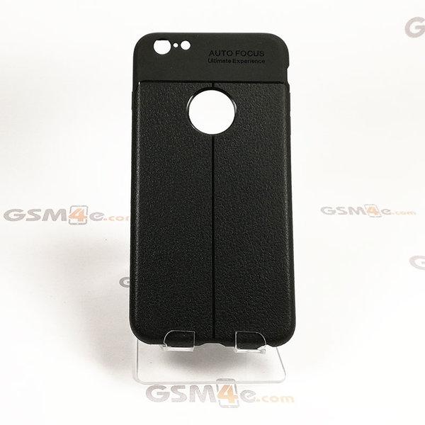 Iphone 6 Plus/6S Plus - Удароустойчив силиконов гръб / кейс с изглед на кожа и борд на отвора на камерата