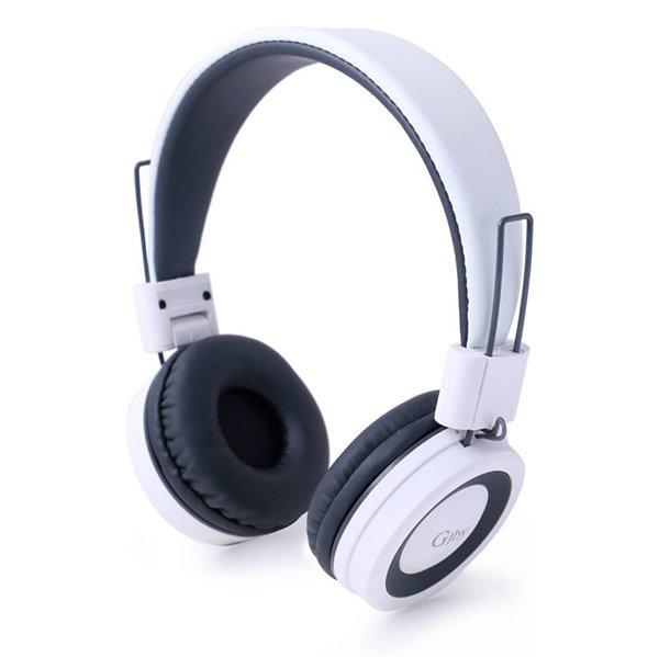 Слушалки за телефон с мощен бас и микрофон GJBY GJ-14 Audio Extra Bass бели