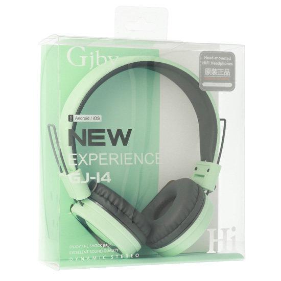 Слушалки за телефон с мощен бас и микрофон GJBY GJ-14 Audio Extra Bass зелени