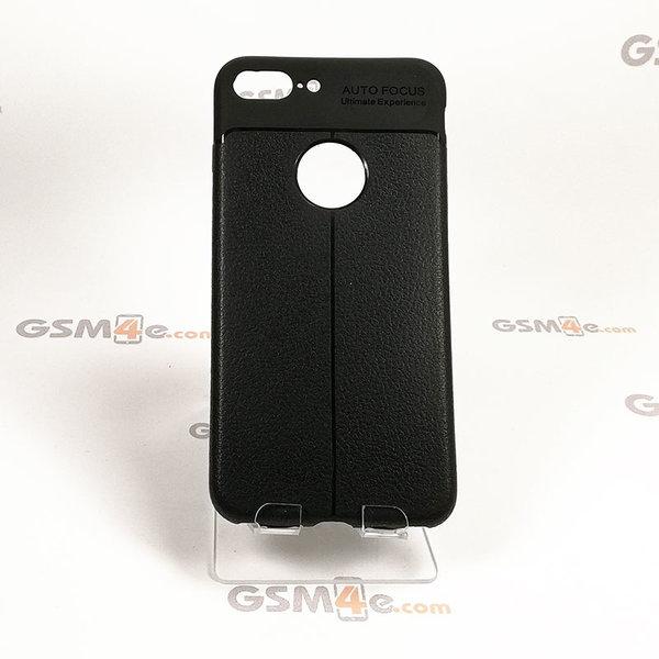 Iphone 7 Plus - Удароустойчив силиконов гръб / кейс с изглед на кожа и борд на отвора на камерата