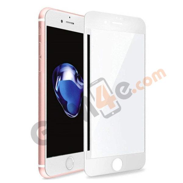 Стъклен протектор 5D Full Glue за iPhone 7 Plus / 8 Plus бял