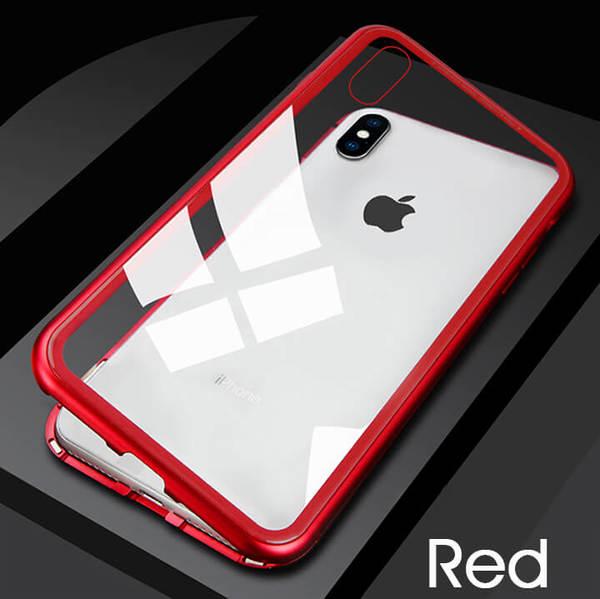 360 градусова защита Magneto Case за iPhone XS Maxчервен