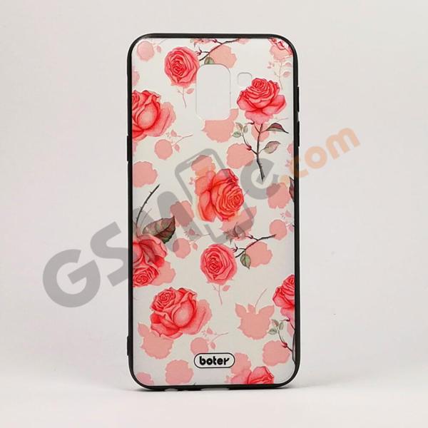 Луксозен калъф/кейс с3DпечатзаSamsung Galaxy J6 рози