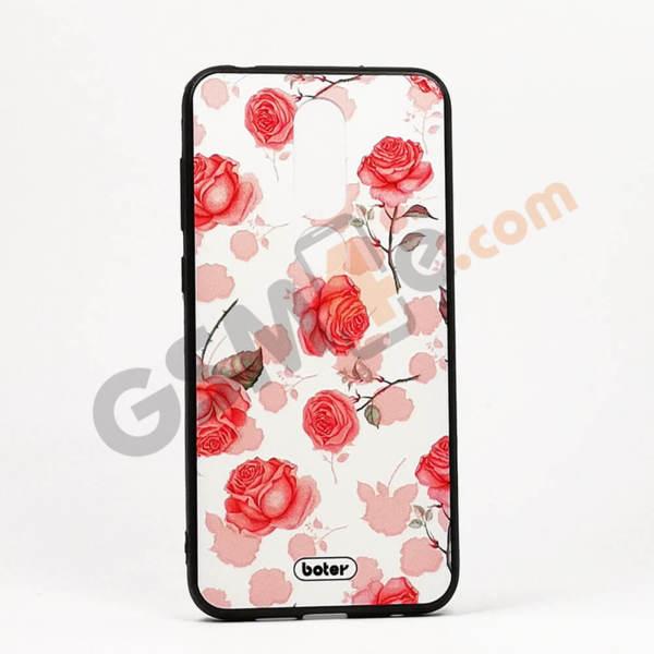 Луксозен калъф/кейс с3DпечатзаNokia 6.1 Plus рози