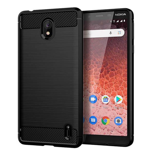 Хибриден силиконов кейс / калъф Carbon Case за Nokia 1 Plus