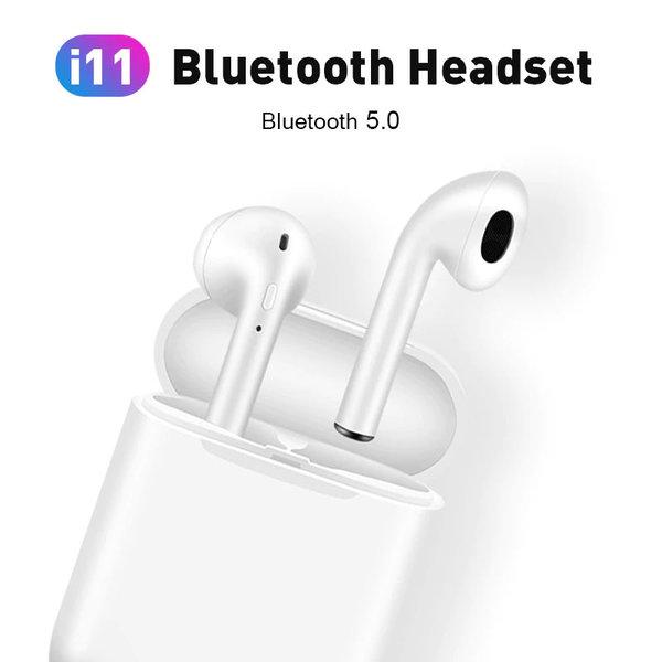 Безжични Bluetooth 5.0 стерео слушалки airpods i11 TWS с автоматично свързване