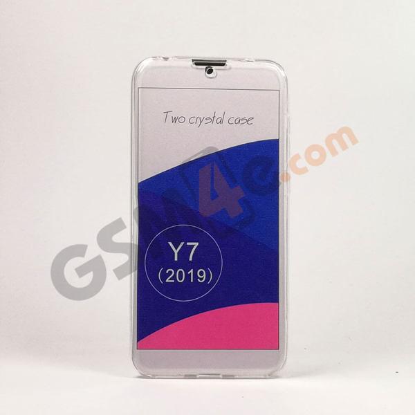 360 прозрачен силиконов калъф/кейс за Huawei Y7 2019
