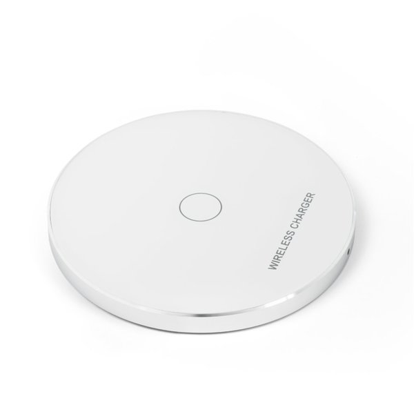 Бързо безжично зарядно устройство (Qi стандарт) модел KD01 - бял
