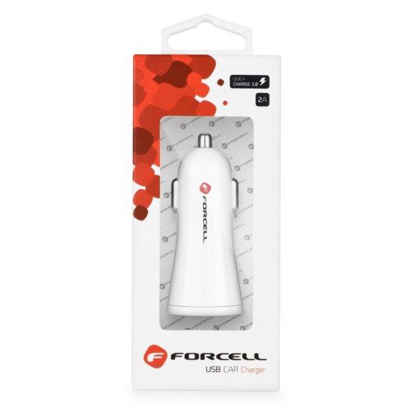 Зарядно за кола Forcell - 2,4A с функция за бързо зареждане Quick Charge 3.0