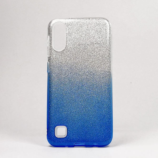 Луксозен кейс / калъф с брокатShining CaseзаSamsung Galaxy M10 син
