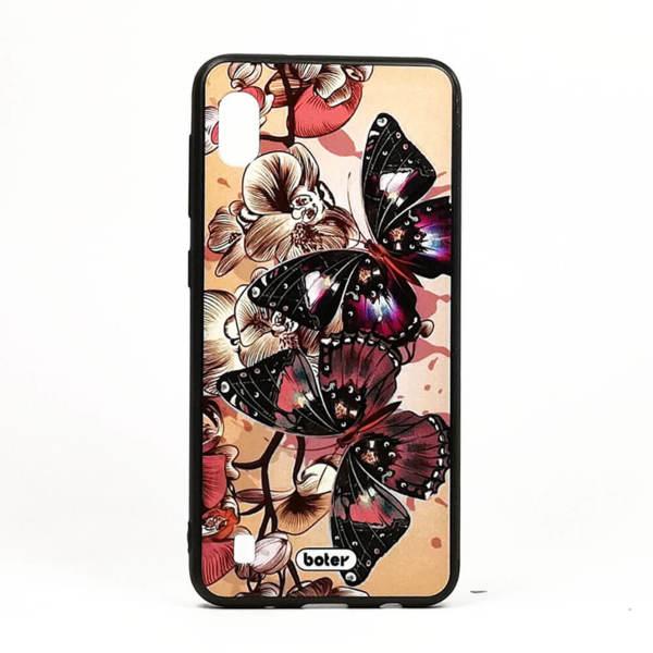 Луксозен калъф / кейс с3DпечатзаSamsung Galaxy M10 пеперуди