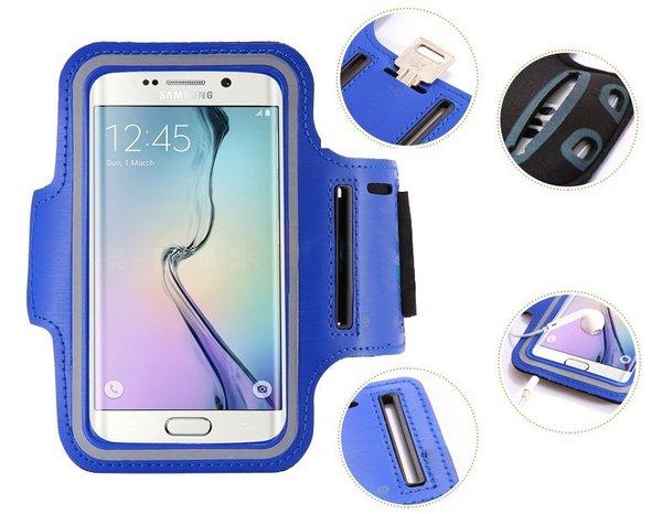 """Спортен калъф за телефон за ръка Sport Case Armband (6-6,5"""") син"""