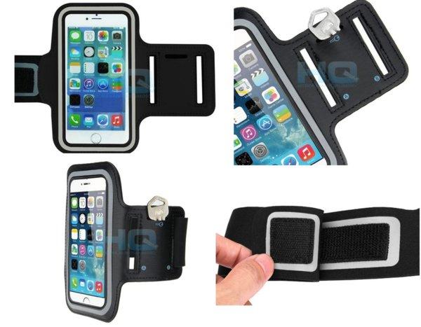 """Спортен калъф за телефон за ръка Sport Case Armband (6-6,5"""") черен"""