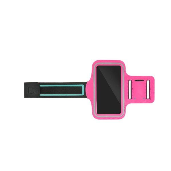 """Спортен калъф за телефон за ръка Sport Case Armband (5-6"""") розов"""