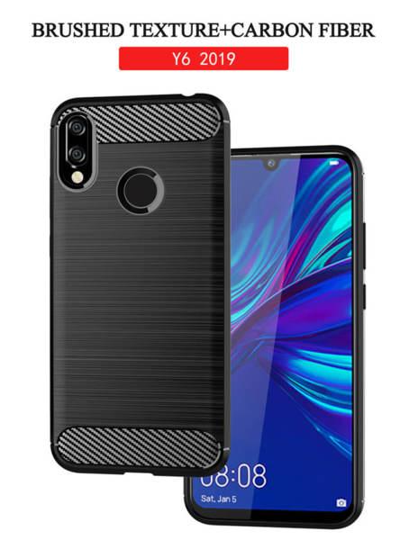 Хибриденсиликоновкейс /калъф Forcell Carbon Case за Huawei Y6 2019