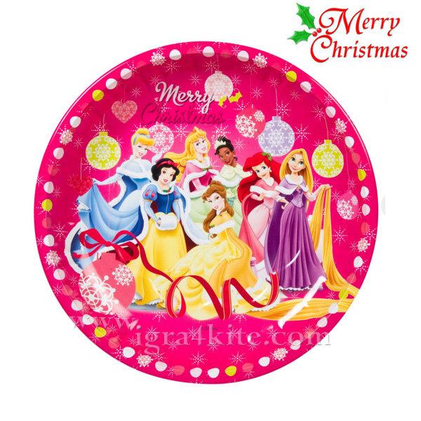 Disney - Коледна чиния Дисни Принцеси
