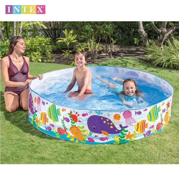 Intex - Детски Басейн с твърд борд Морски обитатели 56452