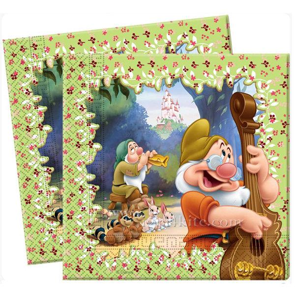 Procos - Принцеси Снежанка и седемте Джуджета Парти салфетки 5597