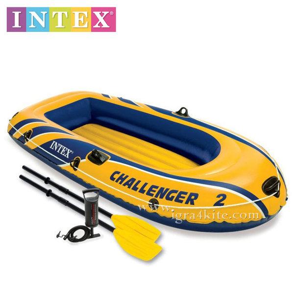 Intex - Надуваема лодка Chаllenger 2 местна 68367