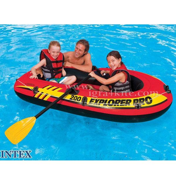 Intex - Надуваема лодка Explorer Pro 200 - 2местна 58356