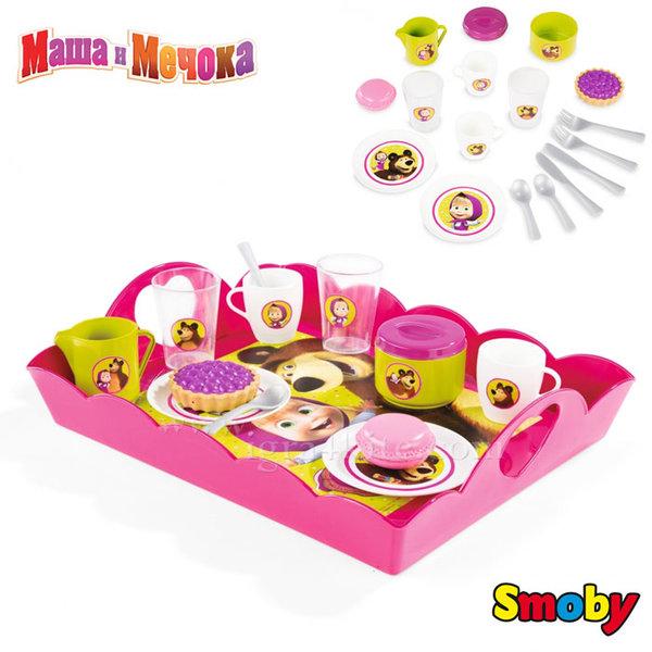Smoby - Маша и Мечока Сервиз за чай 310528