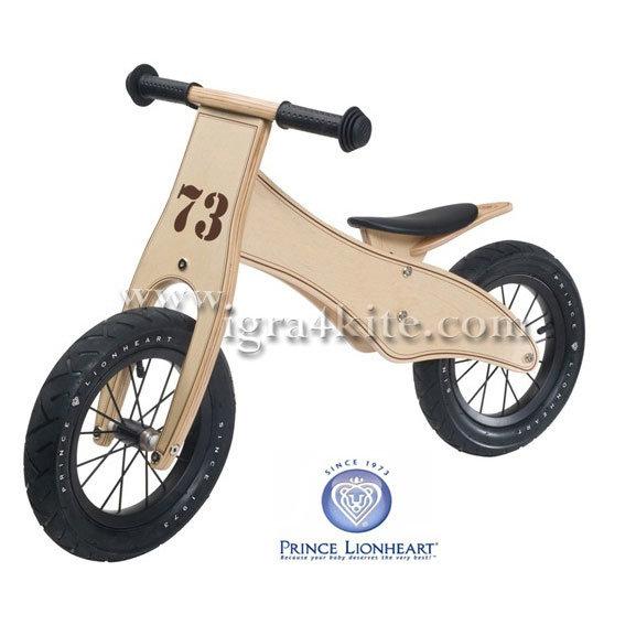 Prince Lionheart - Обучаващо дървено колело Balance Bike 7600