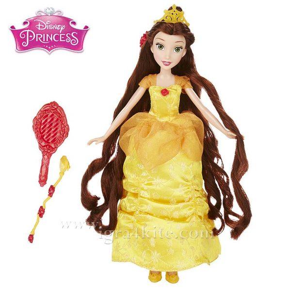 Disney Princess - Красавицата и звяра Кукла Бел с дълга коса B5292