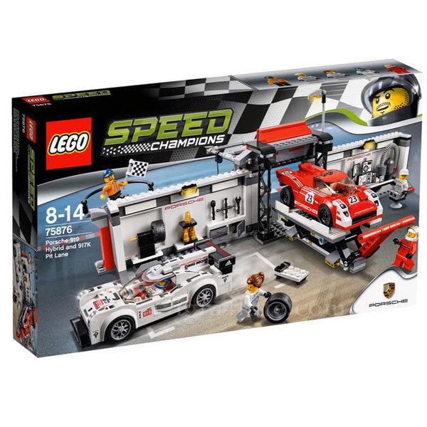 Lego 75876 Speed Champions - Питстоп за Porsche 919 Hybrid и 917K