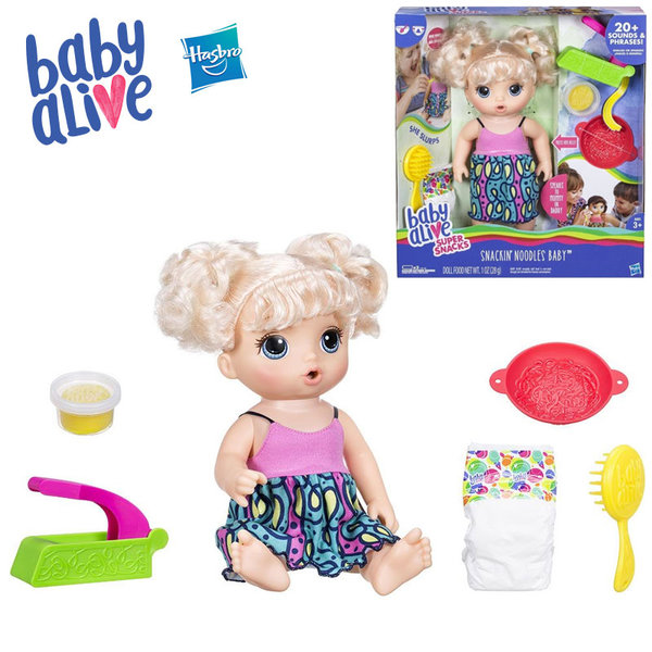 Baby Alive - Интерактивна говореща кукла с аксесоари Snackin' Noodles c0963