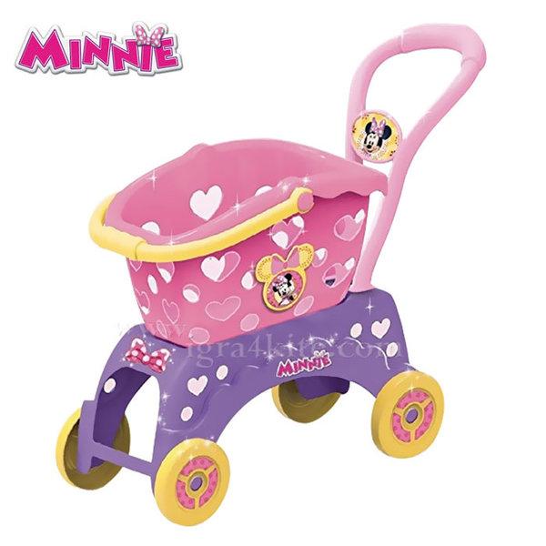 Disney Minnie Mouse - Детска пазарска количка 2в1 Мини Маус 084199