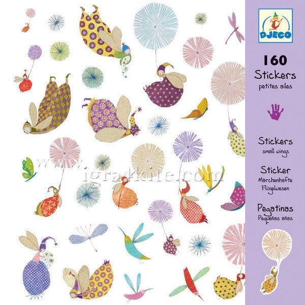 Djeco - Стикери Small Wings 160 бр 08832