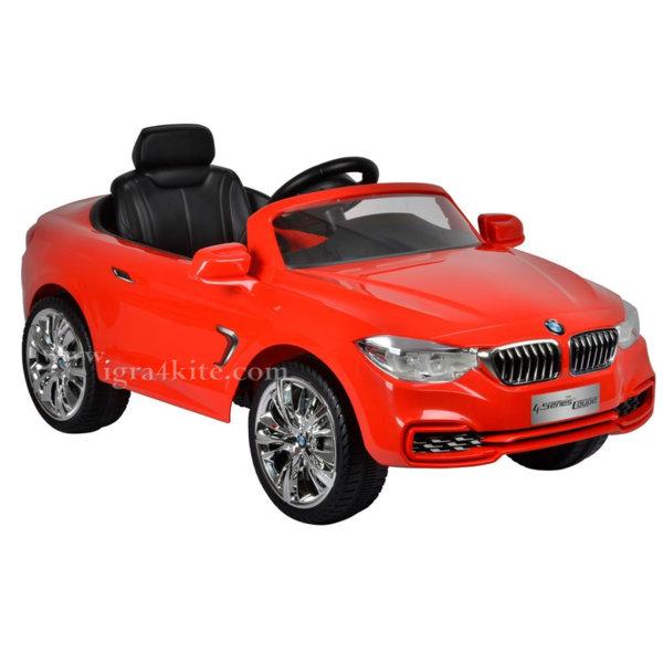 Ocie - Акумулаторна кола с радио контрол и MP3 BMW Червена 9010089