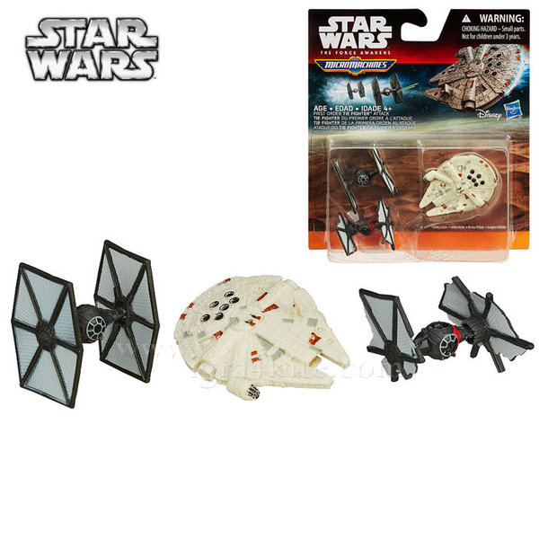 Hasbro Star Wars - Комплект 3 бойни кораба от Междузвездни войни First Order TIE Fighter Attack b3500