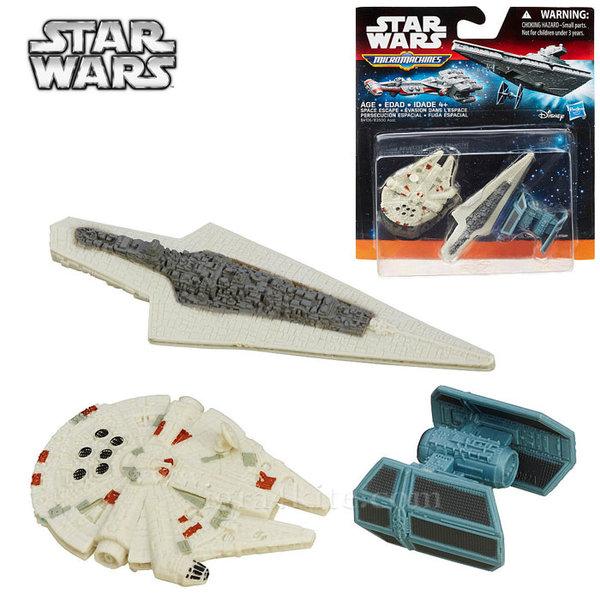 Hasbro Star Wars - Комплект 3 бойни кораба от Междузвездни войни Space Escape b3500