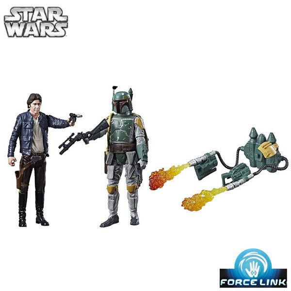 Hasbro Star Wars Force Link - Екшън фигури Han Solo и Boba Fett c1242