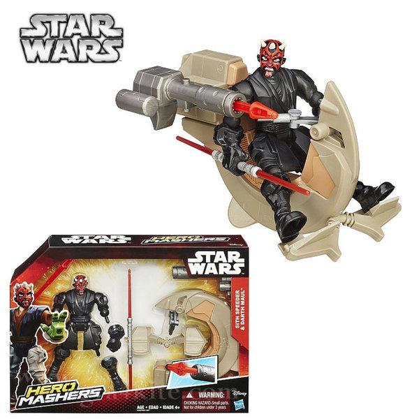Hasbro Star Wars - Hero Mashers Комплект фигурка и боен кораб Sith Speeder & Darth Maul b3831
