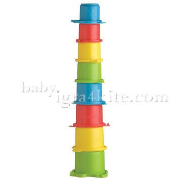 Playgro - Чаши за подраждане Крокодил 0123