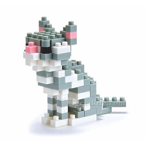 Nanoblock - 3D Строител Американска късокосместа котка