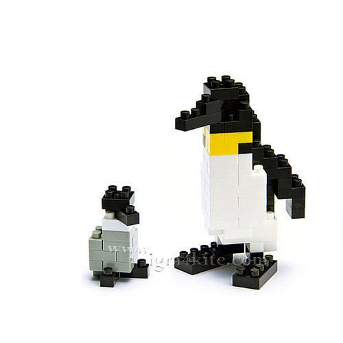 Nanoblock - 3D Строител Императорски пингвини