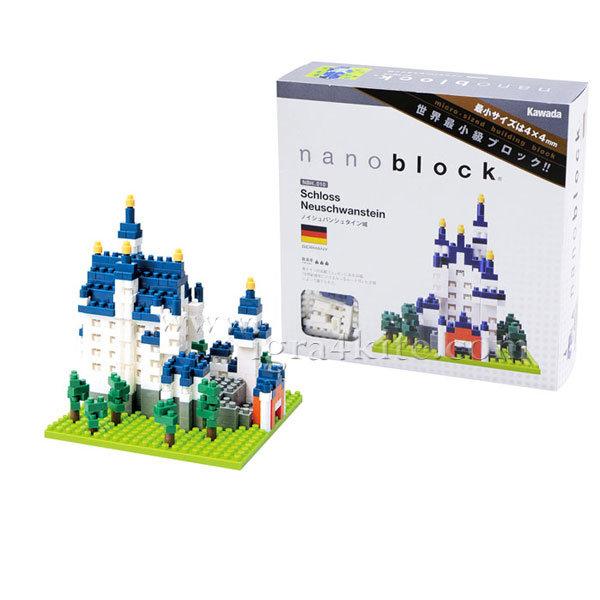 Nanoblock - 3D Строител Замък Neuschwanstein