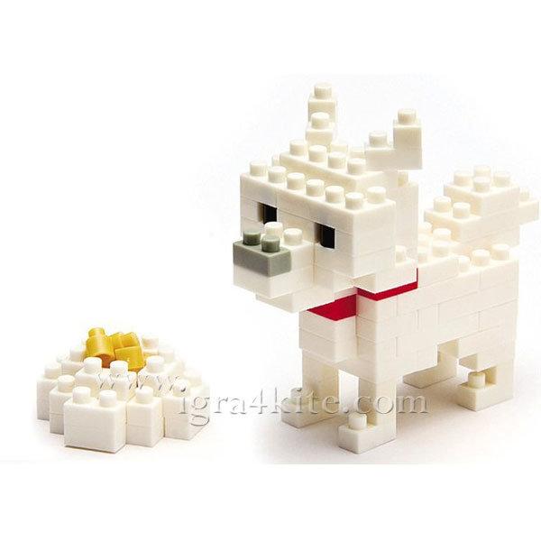 Nanoblock - 3D Строител Куче Hokkaido