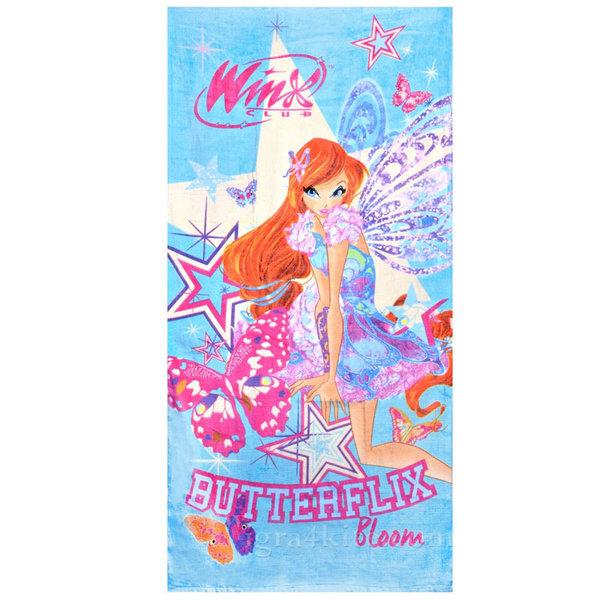 Winx - Детска плажна кърпа Уинкс Блум 174417