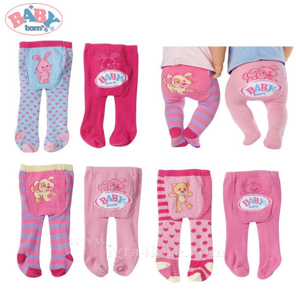 Zapf Creation - Baby Born Чорапогащник за кукла Бейби Борн 2 броя 819456